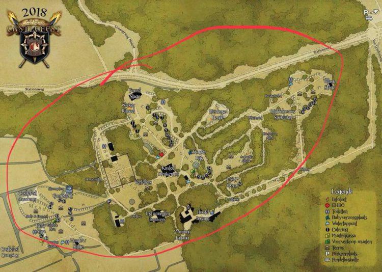 Castlefest map